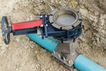 permanent gate valve install